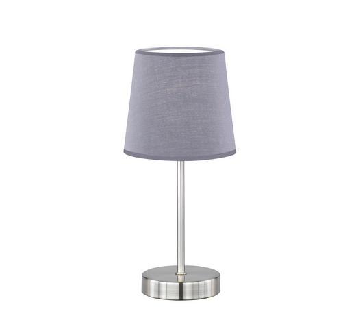 TISCHLEUCHTE - Grau, Design, Textil/Metall (14/32cm)