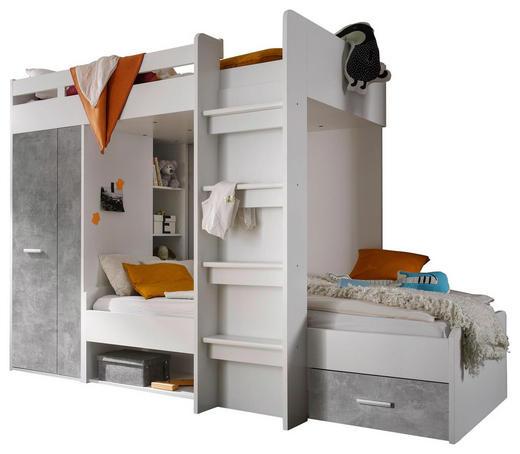 HOCHBETT - Weiß/Grau, MODERN, Holzwerkstoff (90/200cm) - Carryhome