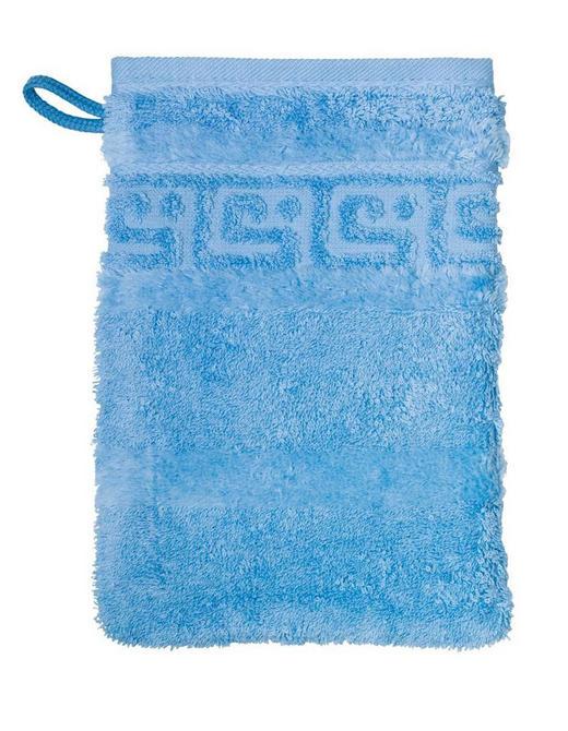 WASCHHANDSCHUH - Hellblau, Basics, Textil (16/22cm) - Cawoe