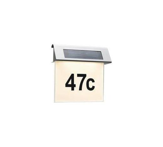LED-AUßENLEUCHTE - Edelstahlfarben/Weiß, Basics, Metall (23/22/6cm)
