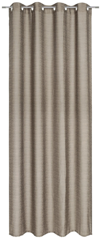 ÖSENSCHAL  blickdicht  140/245 cm - Taupe, KONVENTIONELL, Textil (140/245cm) - Esposa