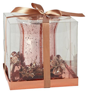LJUSLYKTA - guldfärgad/rosa, Lifestyle, metall/papper (16,5/15,5cm) - X-Mas