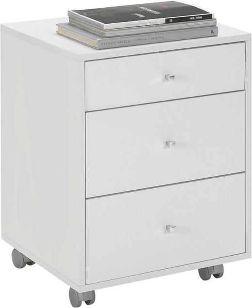 ROLLCONTAINER - Chromfarben/Weiß, Design, Holzwerkstoff/Kunststoff (47/63,5/45cm) - Carryhome