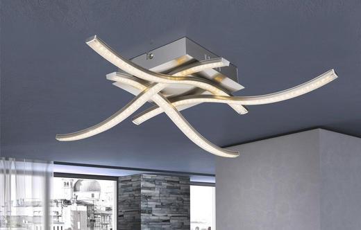 LED-DECKENLEUCHTE - Design, Kunststoff/Metall (47,5/47,5/8cm)