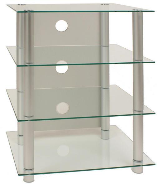 PHONOTISCH Glas, Metall Silberfarben - Silberfarben, KONVENTIONELL, Glas/Metall (54/70/45cm)