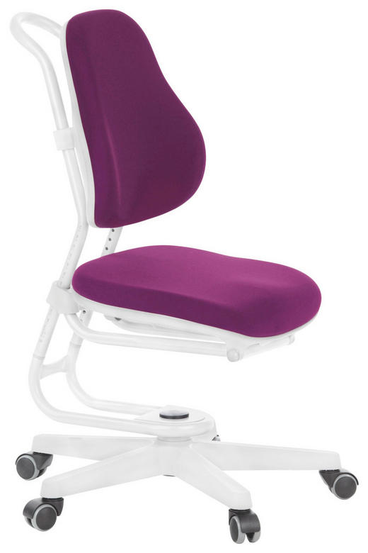 JUGENDDREHSTUHL Grau, Violett, Weiß - Violett/Weiß, Basics, Kunststoff/Textil (59/103/42cm)