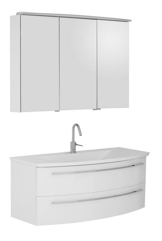 BADEZIMMER Weiß - Weiß, Design, Stein (120cm) - Dieter Knoll