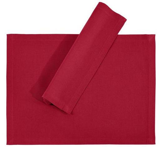 TISCHSET 33/45 cm Textil  - Bordeaux, Basics, Textil (33/45cm) - Novel
