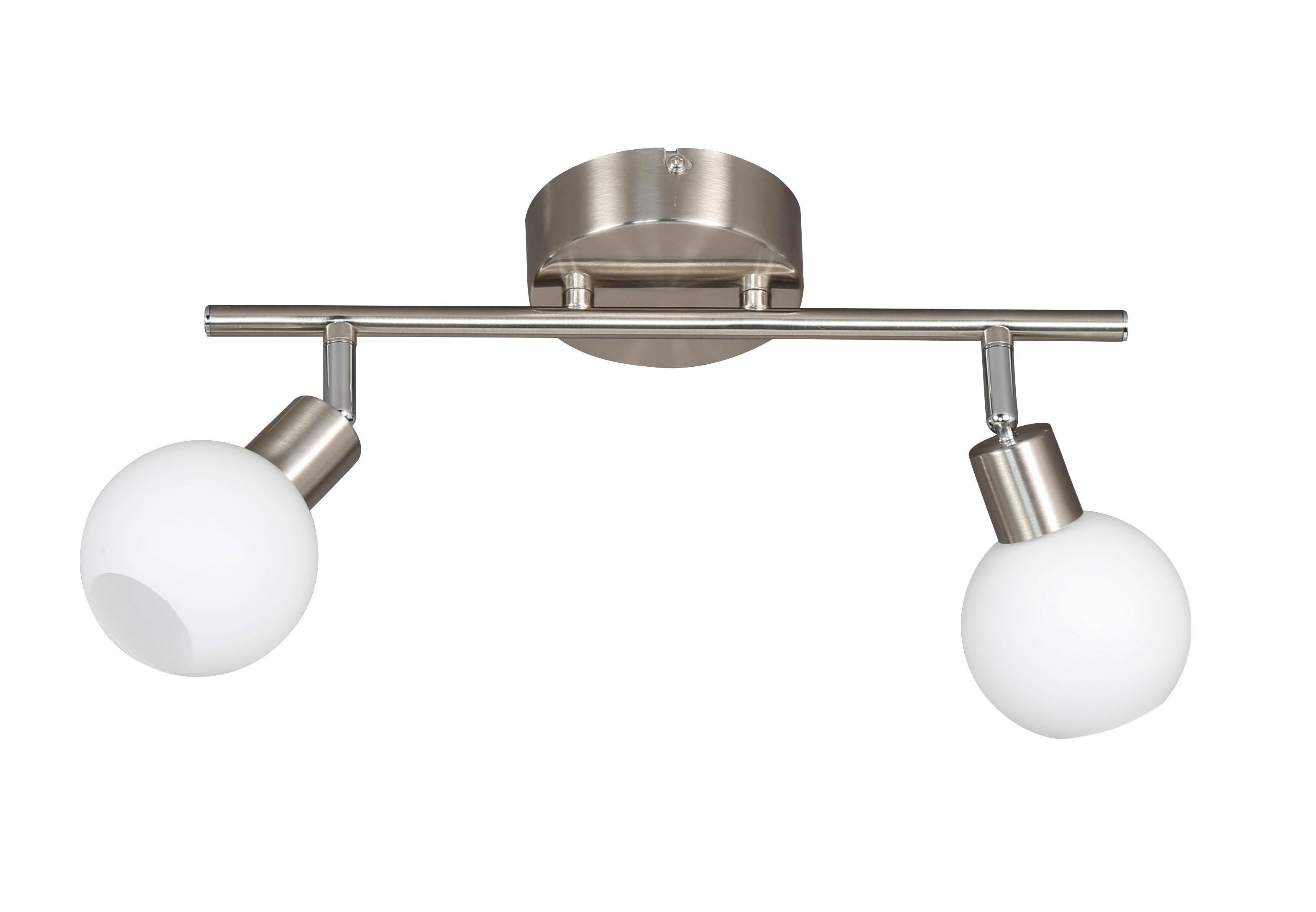 LED-STRAHLER - Nickelfarben, Design, Metall (46,5/19cm)