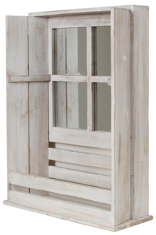 BLUMENFENSTER HOLZ Holz Tanne Weiß - Weiß, Basics, Holz (44/59/17cm)
