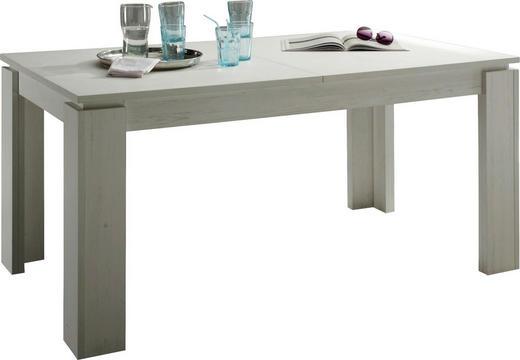 ESSTISCH rechteckig Pinienfarben, Weiß - Weiß/Pinienfarben, Basics, Holzwerkstoff (160(200)/90/77cm) - Carryhome
