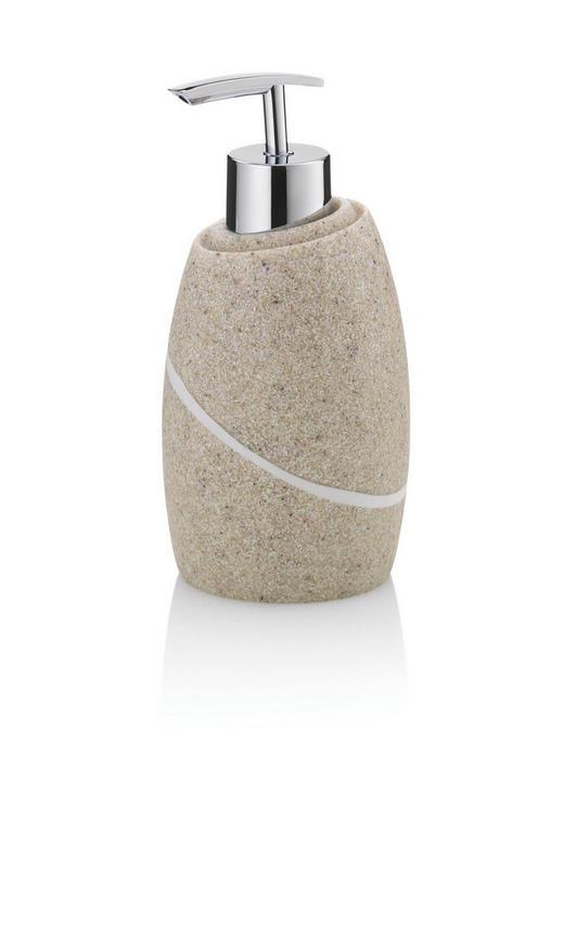 SEIFENSPENDER - Beige, KONVENTIONELL, Kunststoff (7,5/16cm)