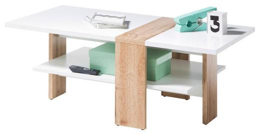 COUCHTISCH in Holzwerkstoff - Eichefarben/Weiß, MODERN, Holzwerkstoff (108/60/41cm) - Ti`me