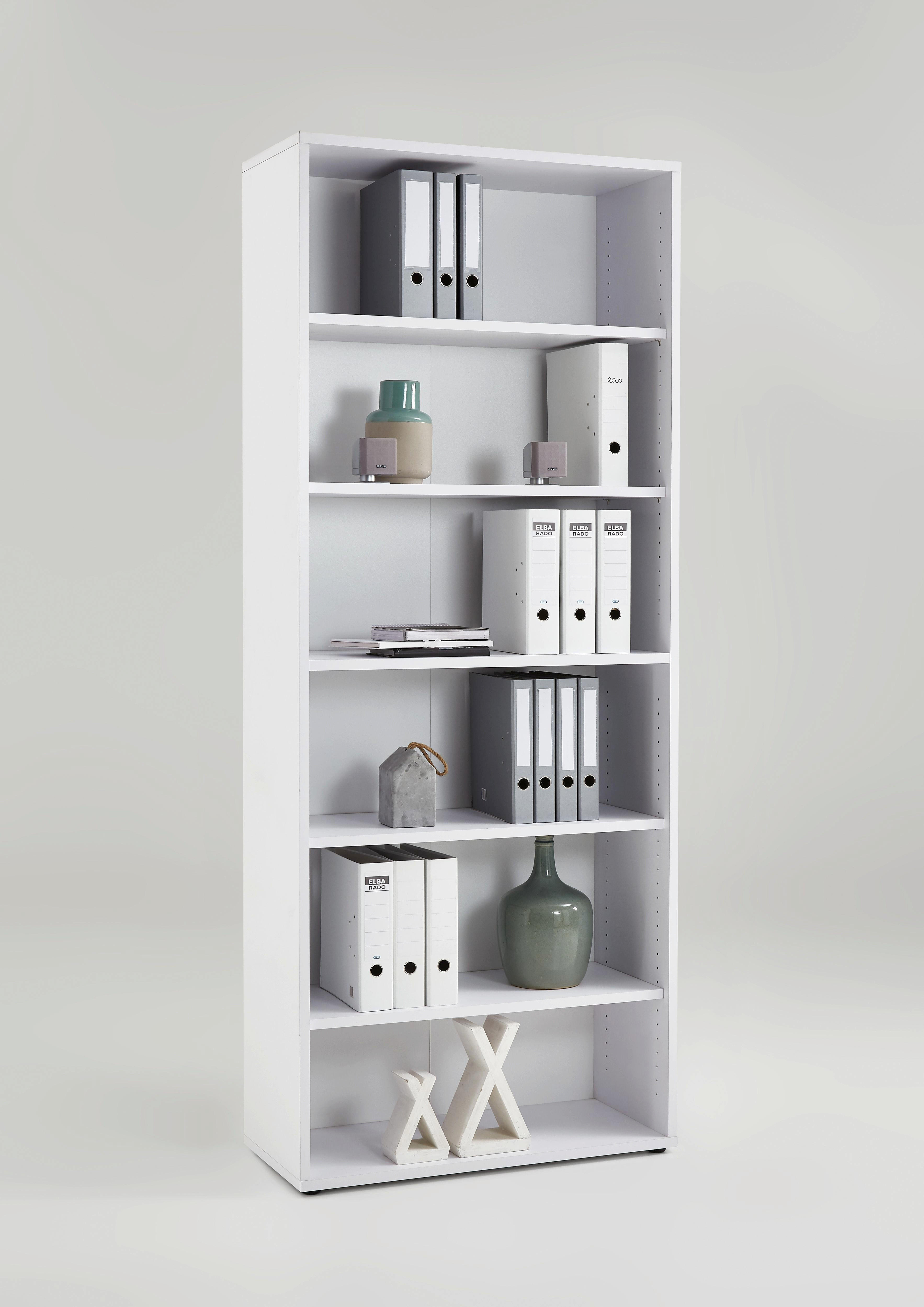 AKTENREGAL Weiß - Weiß, MODERN, Holzwerkstoff (89/221,5/40cm) - CARRYHOME