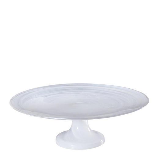 TORTENPLATTE - Weiß, Design, Glas (31/31/10cm) - Leonardo