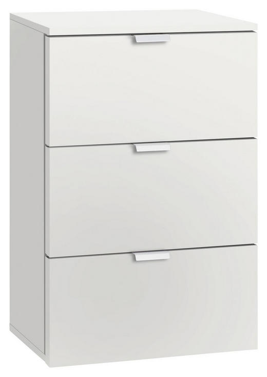 KOMMODE Weiß - Alufarben/Weiß, Design, Metall (40/61/42cm) - Carryhome
