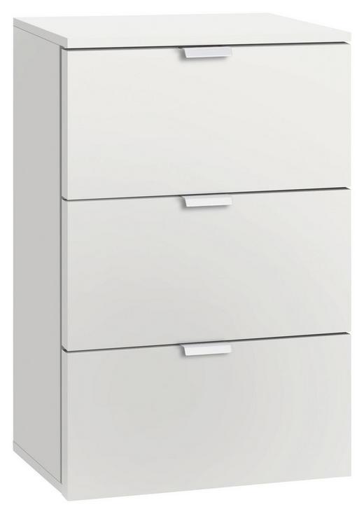 NACHTKÄSTCHEN Weiß - Alufarben/Weiß, Design, Metall (40/61/42cm) - Carryhome