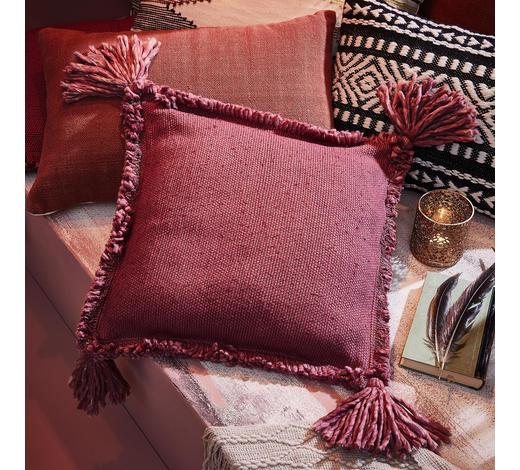 ZIERKISSEN  - Bordeaux, Trend, Textil (45/45/2cm)