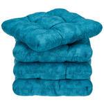Sitzkissen Selina - 4er Pack - Blau, MODERN, Textil (38/38cm) - Luca Bessoni