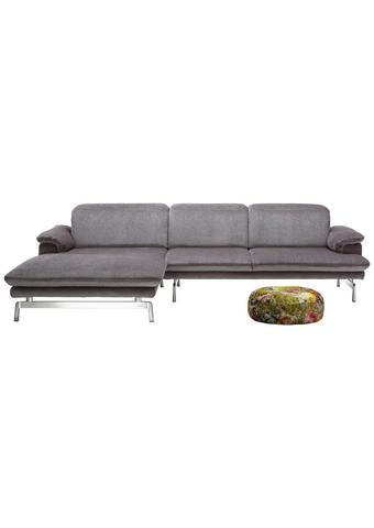 Wohnlandschaft in Grau Textil   - Alufarben/Grau, Design, Textil/Metall (197/294cm) - Joop!