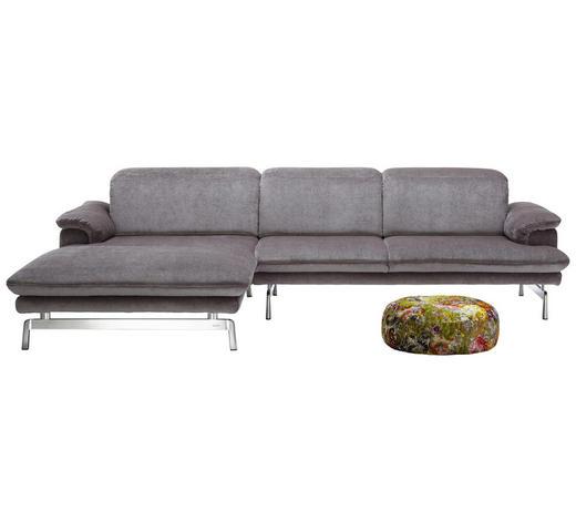 WOHNLANDSCHAFT in Textil Grau - Alufarben/Grau, Design, Textil/Metall (197/294cm) - Joop!