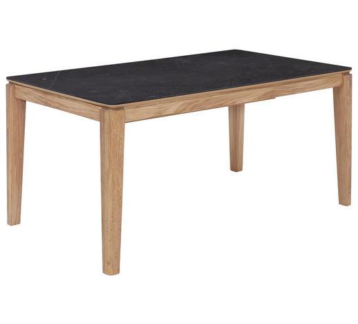 ESSTISCH in Holz, Keramik 160(210)/90/76 cm - Eichefarben/Dunkelgrau, KONVENTIONELL, Holz/Keramik (160(210)/90/76cm) - Celina Home