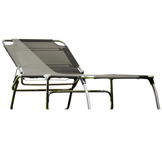 DREIBEINLIEGE 75/40/207 cm - Grau, Basics, Textil/Metall (75/40/207cm)