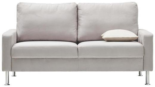 ZWEISITZER-SOFA in Textil Hellgrau - Hellgrau/Alufarben, Design, Textil/Metall (164/86/97cm) - Pure Home Lifestyle