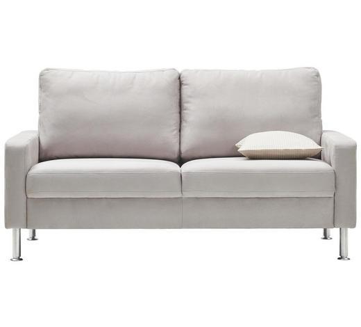 Zweisitzer Sofa In Textil Hellgrau