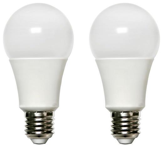 LED-Leuchtmittel E27 - Weiß, Basics, Kunststoff/Metall (6/12cm) - Boxxx