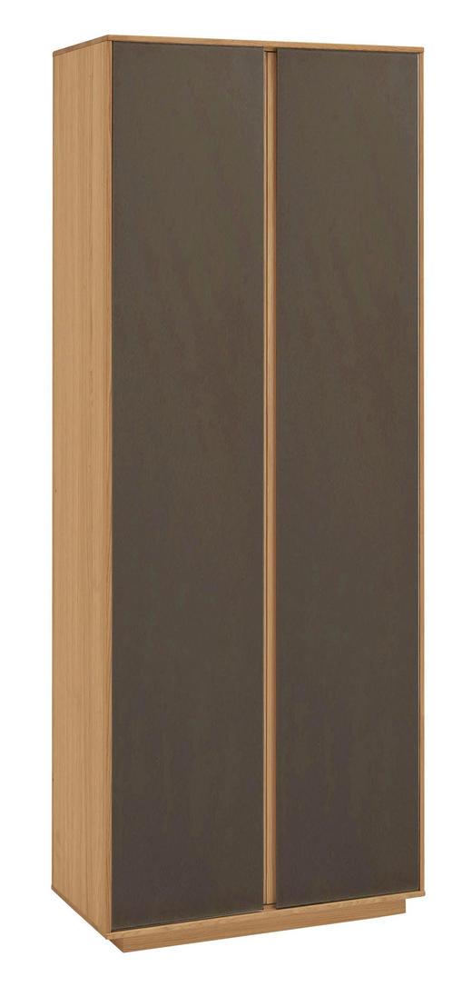 GARDEROBENSCHRANK Eiche teilmassiv lackiert Braun, Eichefarben - Eichefarben/Braun, Design, Holz/Holzwerkstoff (72/193/37cm)