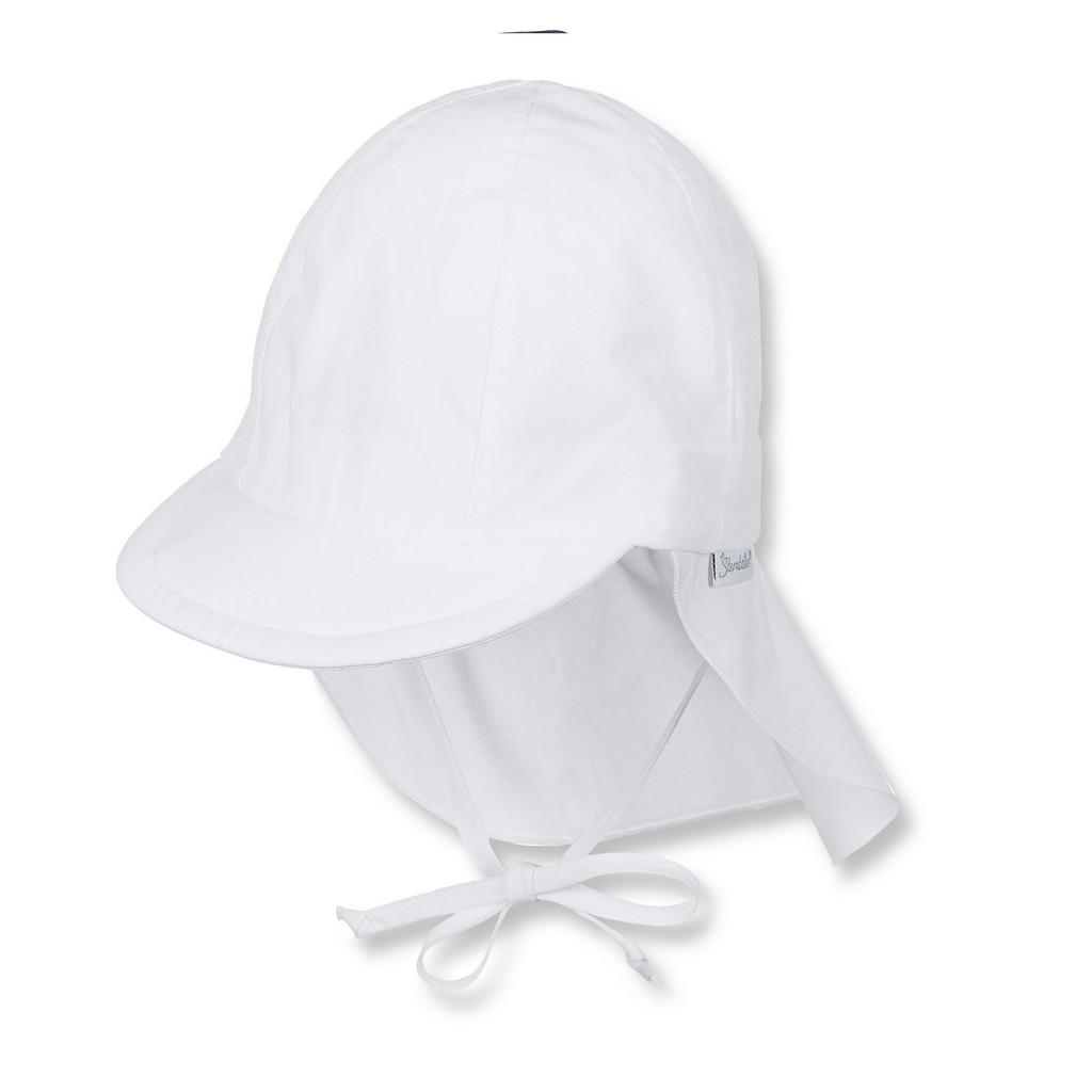 Sterntaler Schirmmütze mit nackenschutz ab 6 monaten weiß 45