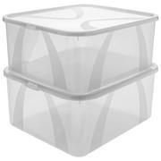 BOX MIT DECKEL 42/35/20 cm - Transparent, Basics, Kunststoff (42/35/20cm) - Rotho