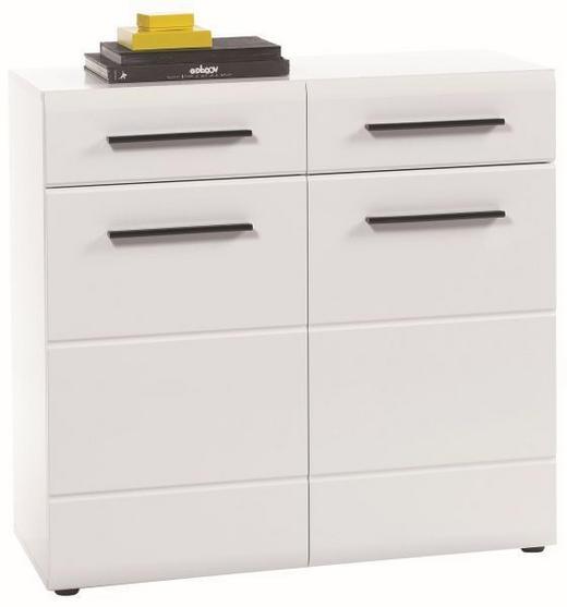 KOMODA - bijela/crna, Design, drvni materijal/plastika (90/88/40cm) - XORA
