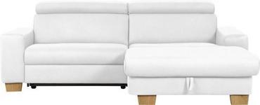 WOHNLANDSCHAFT in Textil Hellgrau - Eichefarben/Hellgrau, Design, Textil (262/178cm) - Hom`in