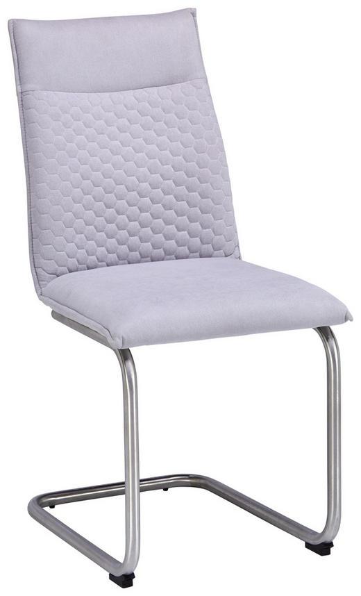 STOLICA - boje oplemenjenog čelika/svijetlo siva, Design, metal/tekstil (47/92/59cm) - Xora
