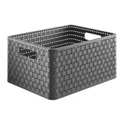 Korb - Dunkelgrau, Konventionell, Kunststoff (36,8/27,8/19,1cm) - Rotho