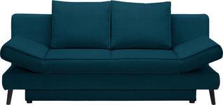 SCHLAFSOFA in Textil Petrol  - Petrol/Schwarz, Design, Textil/Metall (200/85/90cm) - Xora