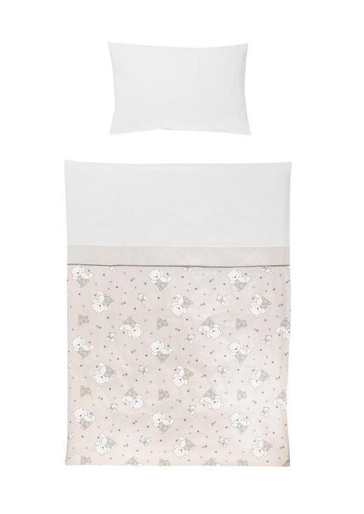 KOJENECKÉ POVLEČENÍ - bílá/šedohnědá, Basics, textil (100/135cm) - My Baby Lou