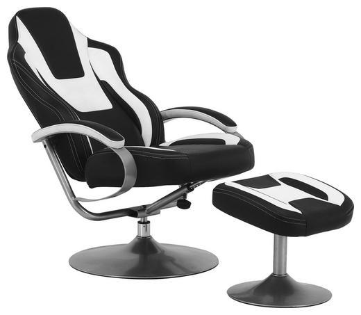RELAXSESSEL Lederlook - Silberfarben/Schwarz, Design, Textil/Metall (69/108-92/82-116cm) - Carryhome