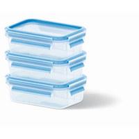 VORRATSDOSENSET 3-teilig  - Basics, Kunststoff (16,3/11,3/16,4cm) - Emsa