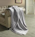 Felldecke Banda - Grau, ROMANTIK / LANDHAUS, Textil (140/190cm) - James Wood