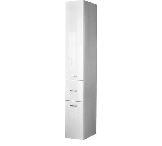 HOCHSCHRANK Weiß  - Chromfarben/Weiß, KONVENTIONELL, Holzwerkstoff/Metall (30/185.5/33cm) - Xora