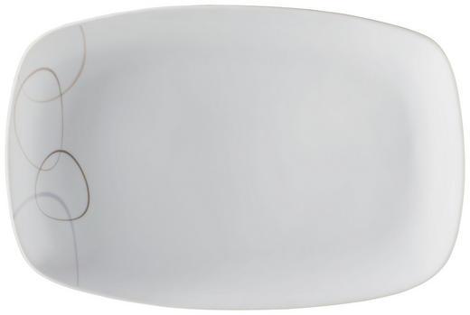SERVIERPLATTE - Braun/Weiß, Basics, Keramik (31/20/3cm) - Ritzenhoff Breker