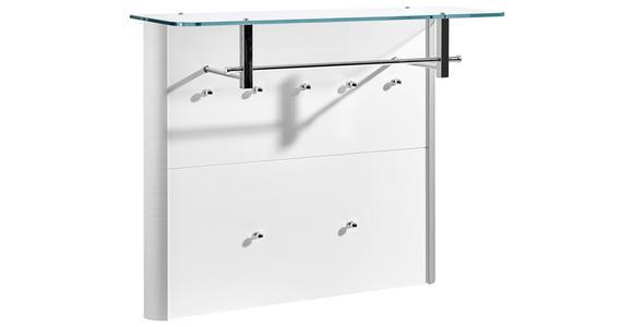 GARDEROBENPANEEL 96/78/33 cm  - Weiß hochglanz/Alufarben, Design, Glas/Holzwerkstoff (96/78/33cm) - Moderano