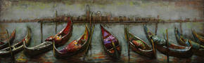 METALLTAVLA - multicolor, Design, metall (180/55cm) - Monee
