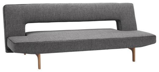 SCHLAFSOFA Grau - Eichefarben/Grau, Design, Holz/Textil (200/81/110cm) - Innovation