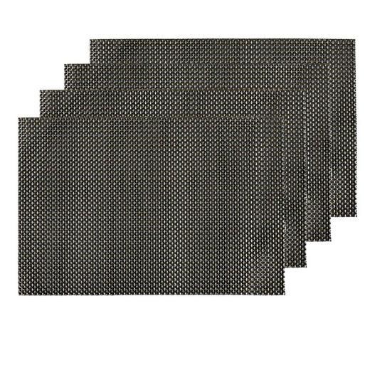 Tischset 4er Set - Anthrazit/Silberfarben, Design, Textil (30/45cm) - Homeware