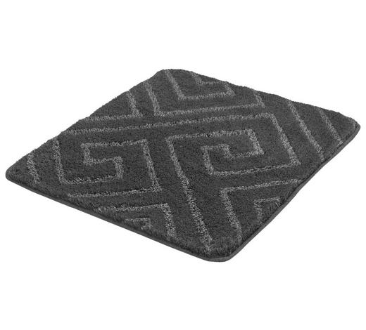 BADTEPPICH in Schieferfarben 55/65 cm - Schieferfarben, KONVENTIONELL, Kunststoff/Textil (55/65cm) - Kleine Wolke