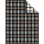WOHNDECKE 150/200 cm Braun, Schwarz  - Schwarz/Braun, LIFESTYLE, Textil (150/200cm) - Novel